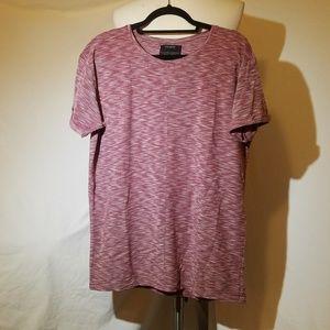 Final PULL & BEAR Red Heathered Knit Shirt